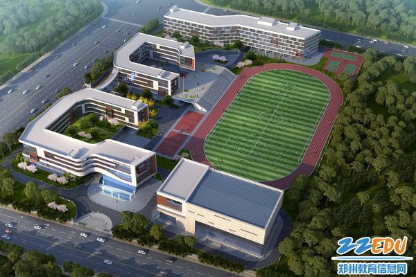 郑州市第四十四高级中学新校区效果图