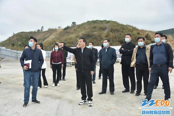 到郑州市中原区伊河路小学教育集团登封校区工地实地查看