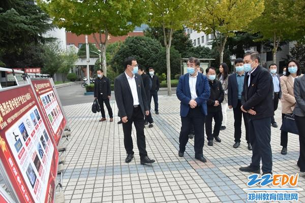 郑州市委党史学习教育第三巡回指导组到登封市实验高中调研