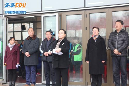 郑州市科协主席吴予红宣布比赛开始