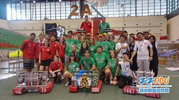 5、郑州九中CRC9067队伍在中美(国际)机器人挑战赛中获得国际冠军联盟