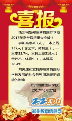 10、郑州博爵国际学校(原九中分校)2017年高考喜报