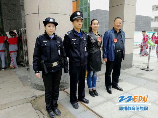 """""""六员""""进郑州47中校园,确保十九大期间学校安全稳定"""