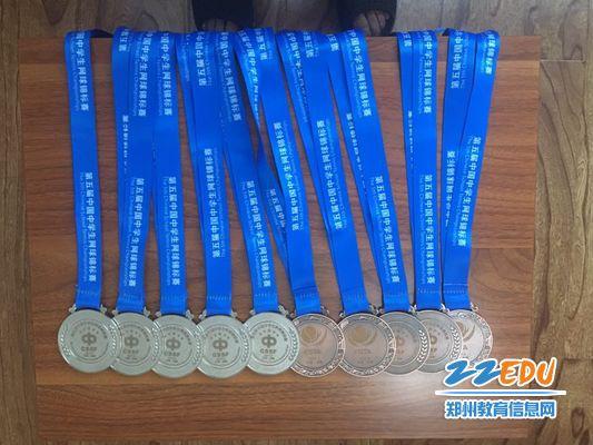 学生比赛获得的奖牌