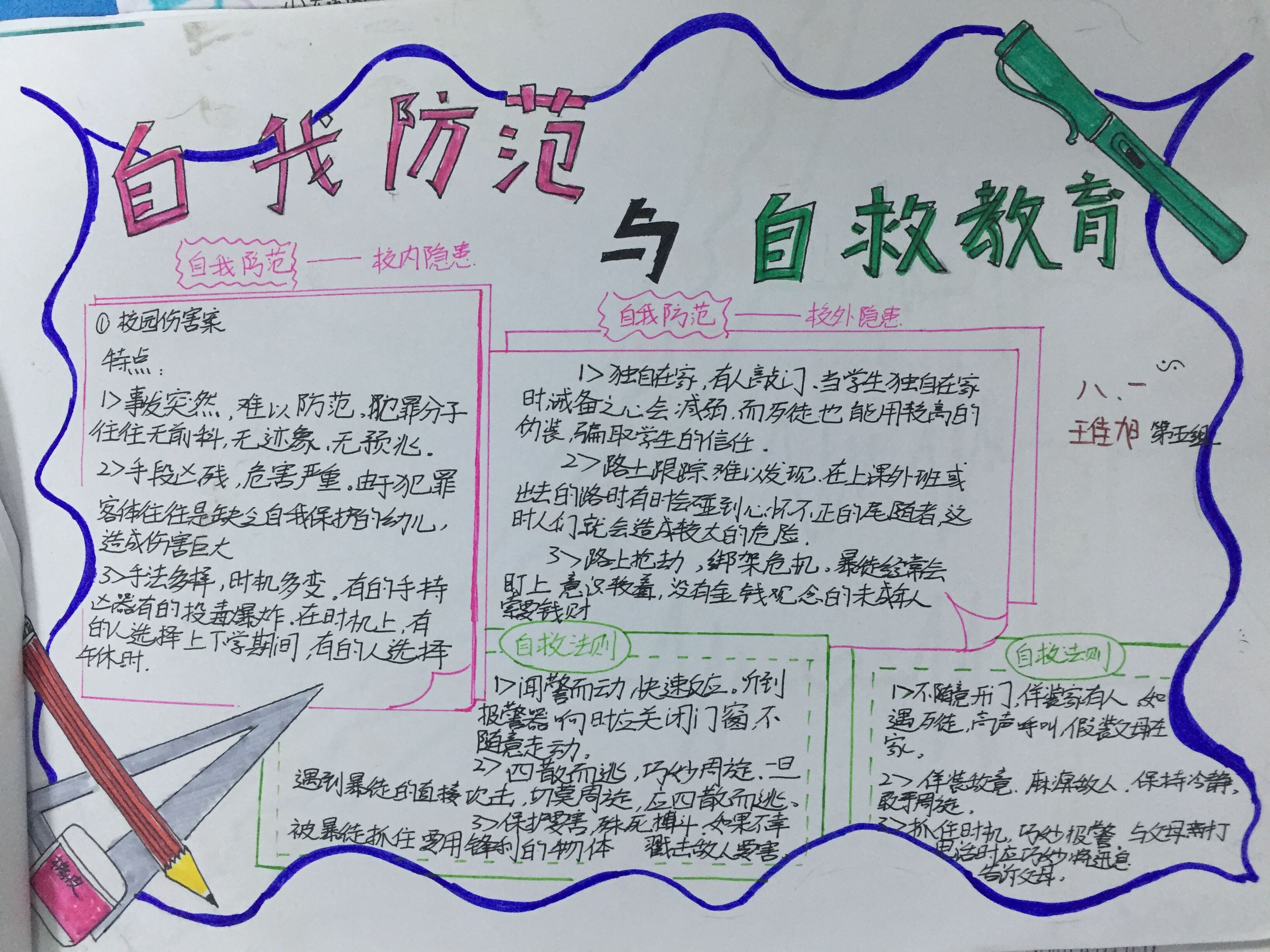 学生学习完做的手抄报