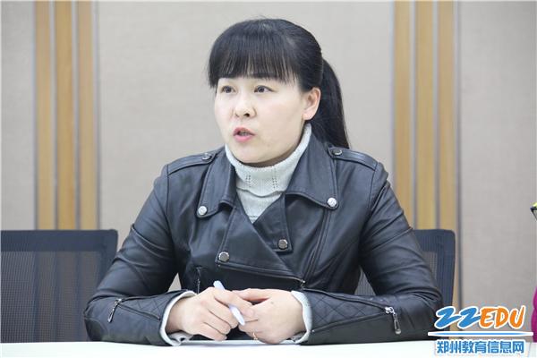 教科室副主任姜春春讲话