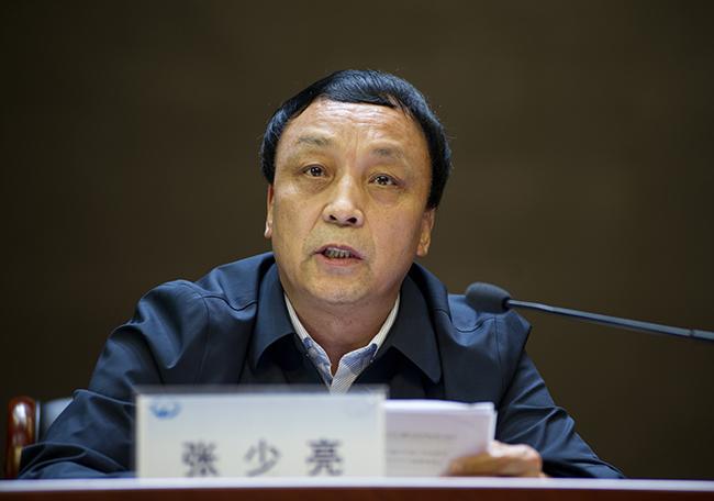 郑州市教育局党组成员、副调研员张少亮。