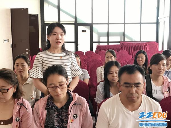预备党员靳艳分享参观心得