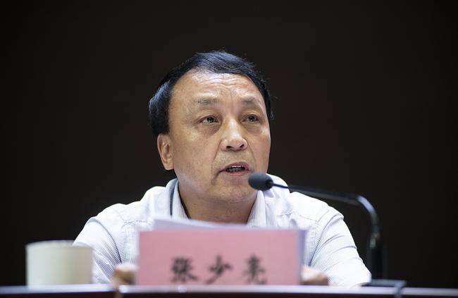 郑州市教育局党组成员、副调研员张少亮讲话。