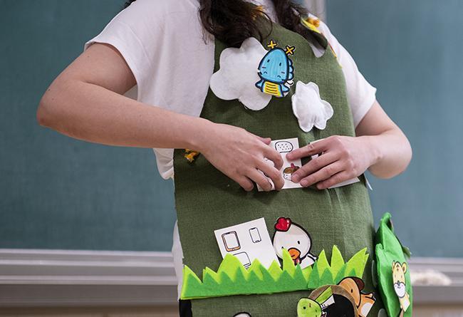 老师精心准备的道具