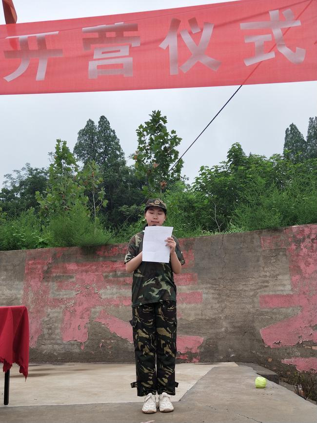 学生代表冯金阳发言