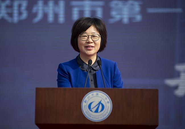 河南省教育厅党组成员、副厅长毛杰讲话。
