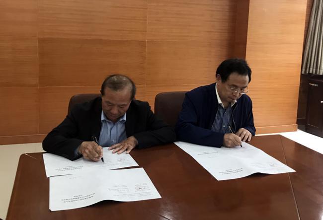 曾昭传副局长与张贵生院长签订合作协议