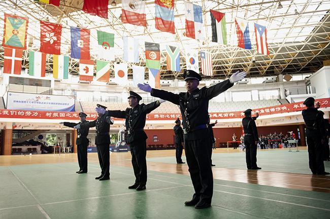 保安员岗位技能大比武现场