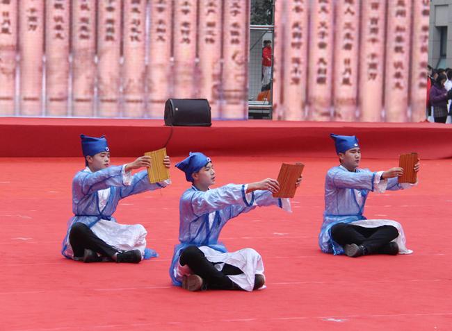 15 郑州市金融学校、郑州市商贸管理学校展示礼、 射礼