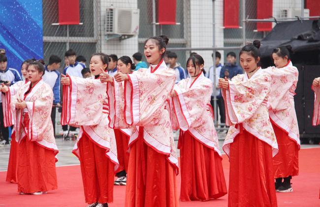 15-3 郑州市金融学校、郑州市商贸管理学校展示礼、 射礼