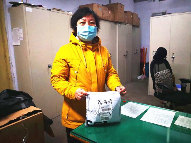 1学校收到陈洪涛老师捐赠的口罩1