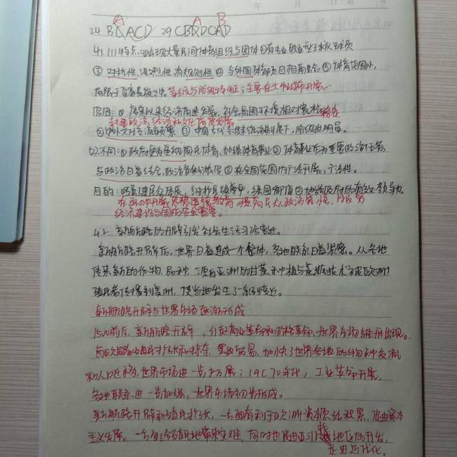 7张国良老师所教学生历史笔记