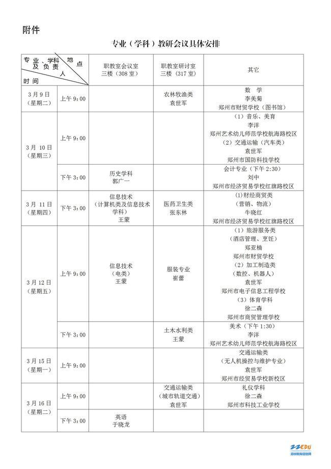 关于召开2020--2021学年下学期郑州市中等职业学校各专业(学科)教研会的通知_02