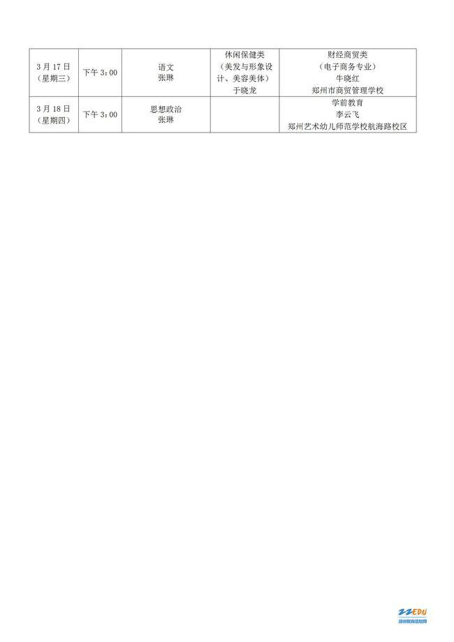 关于召开2020--2021学年下学期郑州市中等职业学校各专业(学科)教研会的通知_03